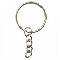 Kulcstartó alap, platina, egyenes szélű, 25 mm, 50 db/csomag