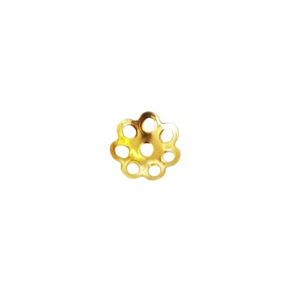Gyöngykalap, 5,5 mm, arany, 100 db/csomag