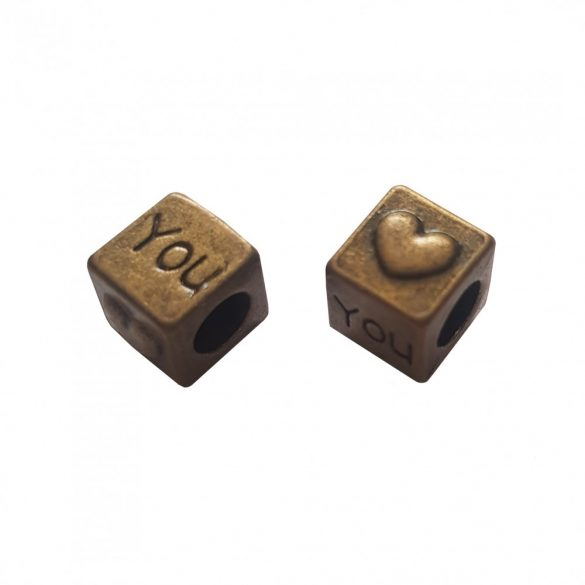 Fémköztes, kocka, 9x8x8 mm, 10 db/csomag