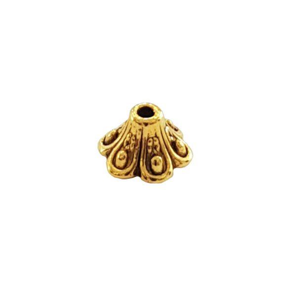 Gyöngykalap, antik arany, 5,5x9 mm, 25 db/csomag