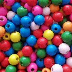 Fagyöngy, színes, 1,2x1,1 cm
