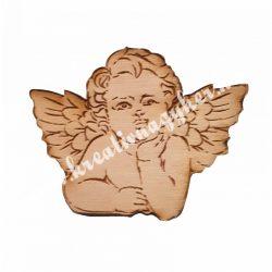 Angyal figura, 7,5x5,5 cm, 5 darab/csomag