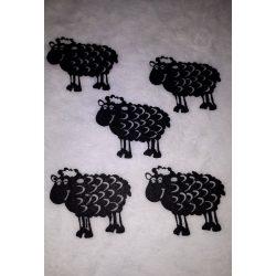Aranyos bárány, fekete, 5 darab/csomag