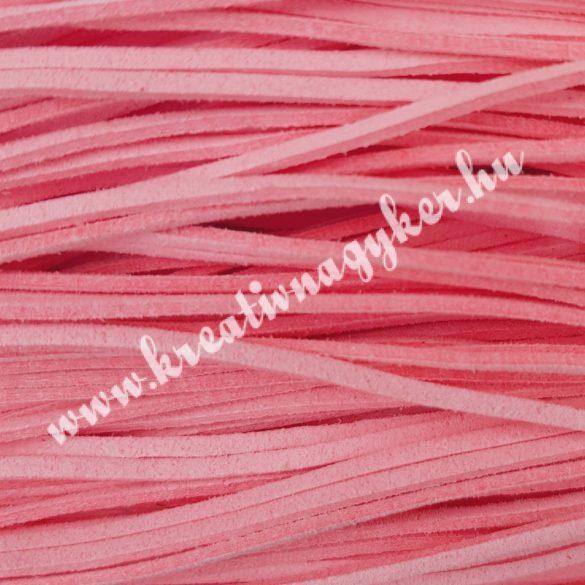 Szintetikus bőrszál, 2,5mmx90cm, világos rózsaszín, 50 szál/köteg