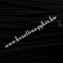 Szintetikus bőrszál, 2,5mmx90cm, fekete, 50 szál/köteg