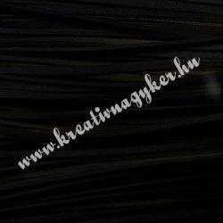 Szintetikus bőrszál, 2,5 mmx90 cm, fekete, 50 szál/köteg