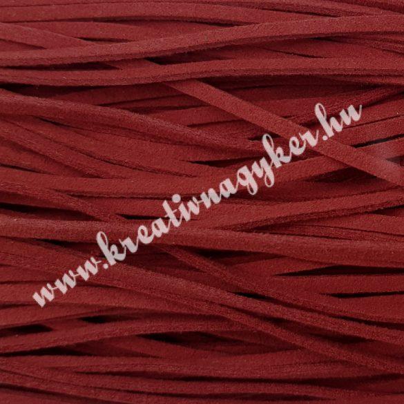 Szintetikus bőrszál, 2,5mmx90cm, piros, 50 szál/köteg