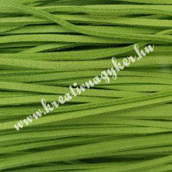 Szintetikus bőrszál, 2,5mmx90cm, fűzöld, 50 szál/köteg