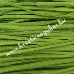 Szintetikus bőrszál, 2,5 mmx90 cm, fűzöld, 50 szál/köteg