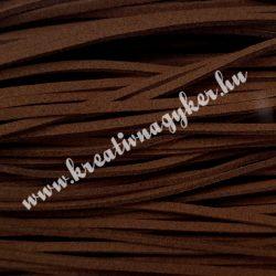 Szintetikus bőrszál, 2,5mmx90cm, barna, 50 szál/köteg