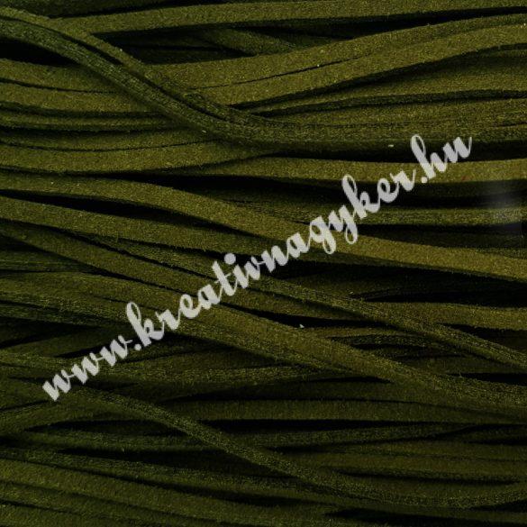 Szintetikus bőrszál, 2,5mmx90cm, zöld, 50 szál/köteg