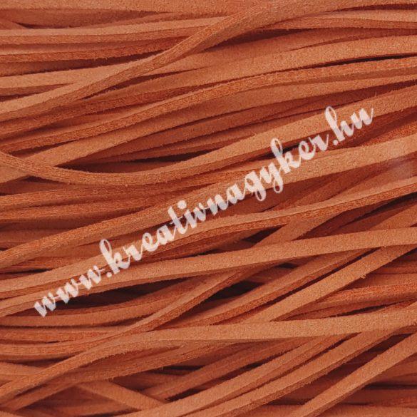 Szintetikus bőrszál, 2,5mmx90cm, narancs, 50 szál/köteg