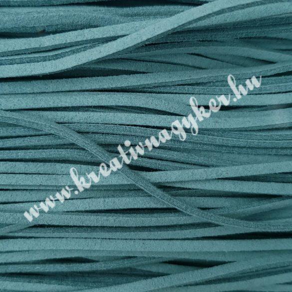 Szintetikus bőrszál, 2,5 mmx90 cm, jádezöld, 50 szál/köteg