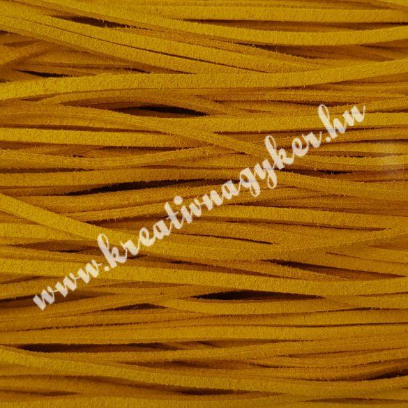 Szintetikus bőrszál, 2,5 mmx90 cm, napsárga, 50 szál/köteg