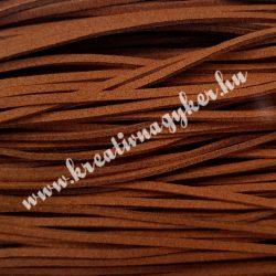 Szintetikus bőrszál, 2,5mmx90cm, konyak, 50 szál/köteg