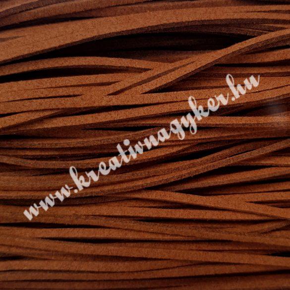 Szintetikus bőrszál, 2,5 mmx90 cm, konyak, 50 szál/köteg