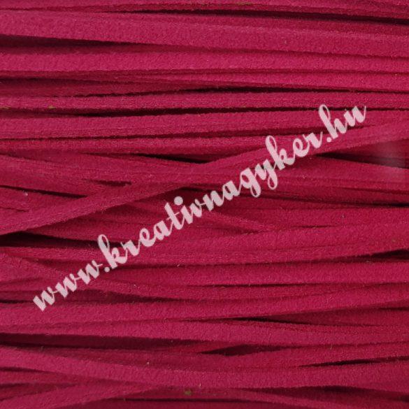 Szintetikus bőrszál, 2,5 mmx90 cm, rózsaszín, 50 szál/köteg
