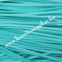 Szintetikus bőrszál, 2,5 mmx90 cm, akvamarin, 50 szál/köteg, a készlet erejéig