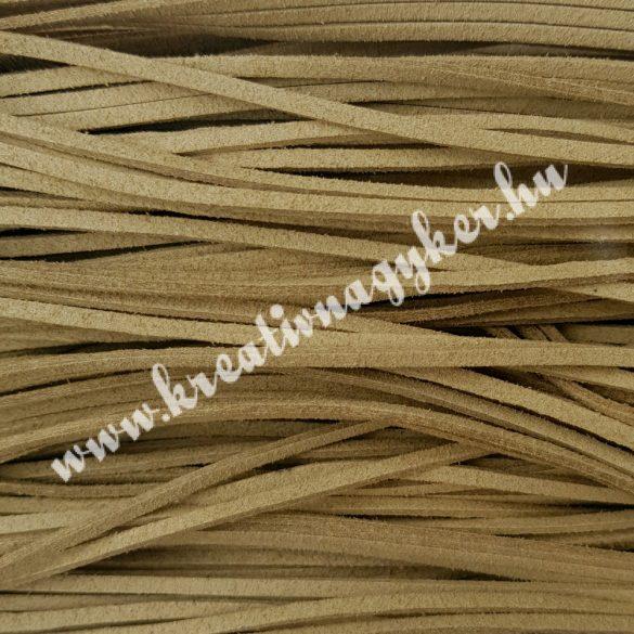 Szintetikus bőrszál, 2,5 mmx90 cm, bézs, 50 szál/köteg, a készlet erejéig