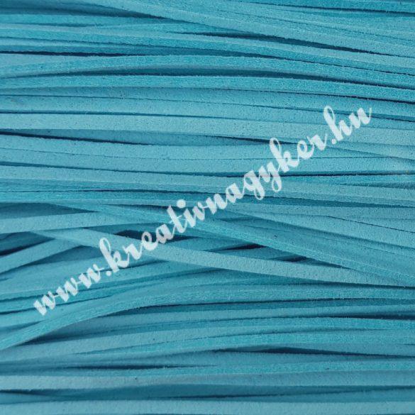 Szintetikus bőrszál, 2,5 mmx90 cm, égkék, 50 szál/köteg, a készlet erejéig