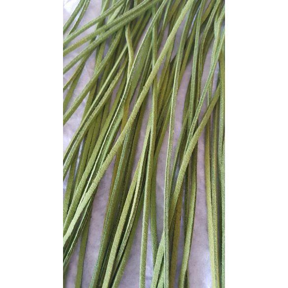 Szintetikus bőrszál, 2mmx75cm, fűzöld, 50 szál/köteg