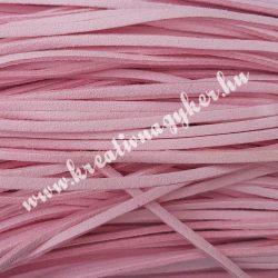 Szintetikus bőrszál, 2,5 mmx90 cm, babarózsaszín, 50 szál/köteg, a készlet erejéig