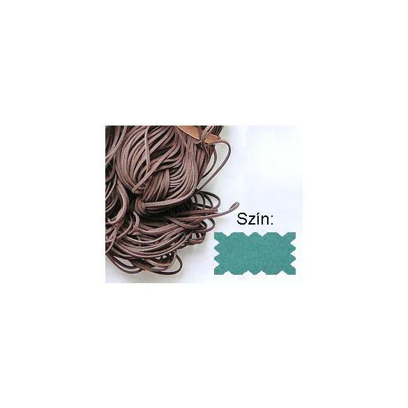 Szintetikus bőrszál, 2mmx75cm, jáde zöld, 50 szál/köteg