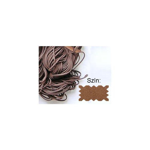 Szintetikus bőrszál, 2mmx75cm, konyak, 50 szál/köteg