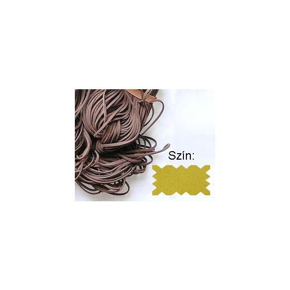 Szintetikus bőrszál, 2mmx75cm, krém, 50 szál/köteg
