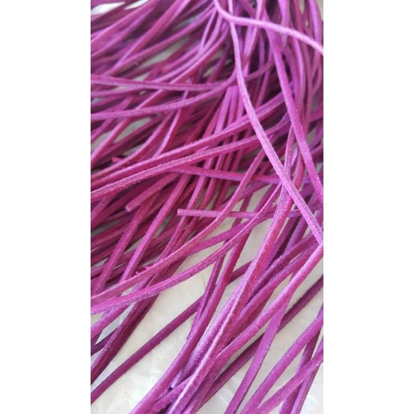 Szintetikus bőrszál, 2mmx75cm, lila, 50 szál/köteg