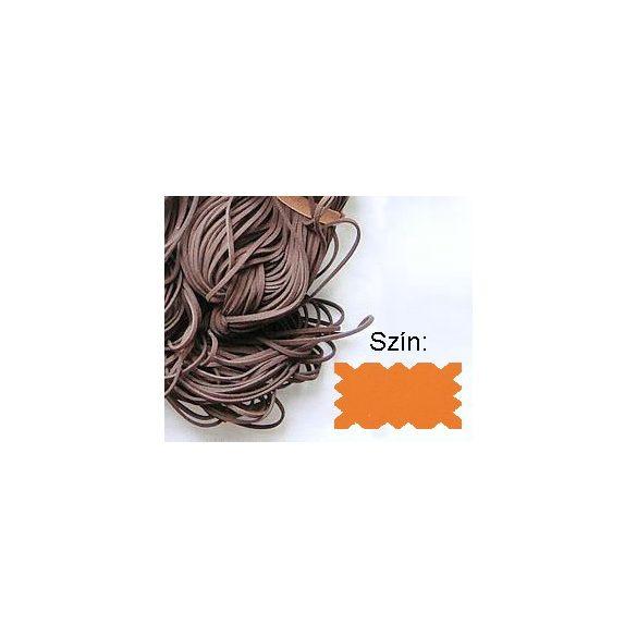 Szintetikus bőrszál, 2mmx75cm, napsárga, 50 szál/köteg