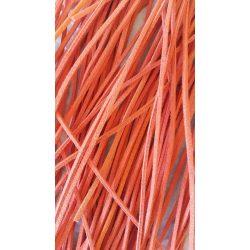 Szintetikus bőrszál, 2mmx75cm, narancs, 50 szál/köteg