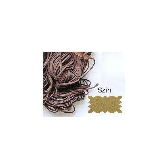 Szintetikus bőrszál, 2mmx75cm, natúr, 50 szál/köteg
