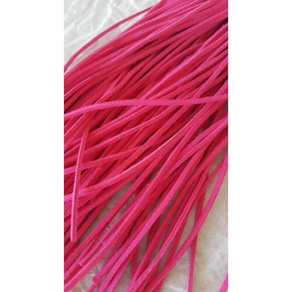 Szintetikus bőrszál, 2mmx75cm, rózsaszín, 50 szál/köteg