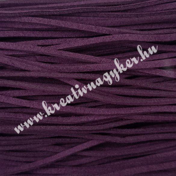Szintetikus bőrszál, 2,5 mmx90 cm, szilva, 50 szál/köteg, a készlet erejéig