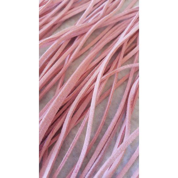 Szintetikus bőrszál, 2mmx75cm, világos rózsaszín, 50 szál/köteg