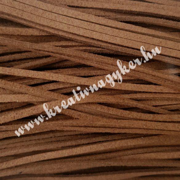 Szintetikus bőrszál, 2,5 mmx90 cm, mogyoróbarna, 50 szál/köteg, a készlet erejéig