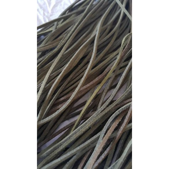 Szintetikus bőrszál, 2mmx75cm, zöld, 50 szál/köteg