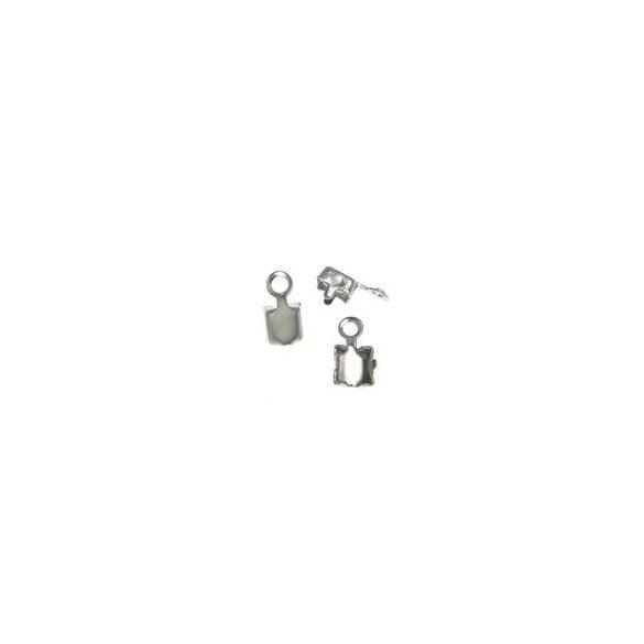 Bőrvég, 4x7,8x3,4mm, platina, 50db/csomag