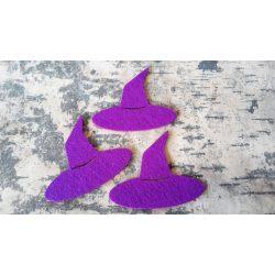 Boszorkány kalap, filc, lila, 10 darab/ csomag