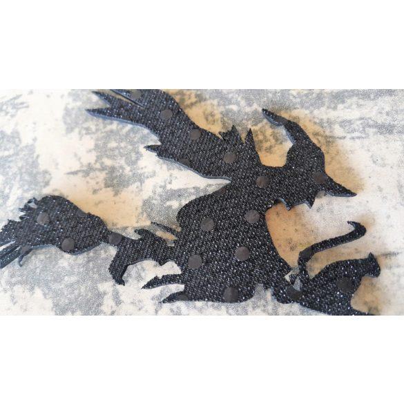 Flitteres dekorgumi boszorkány seprűn, 10 darab/csomag