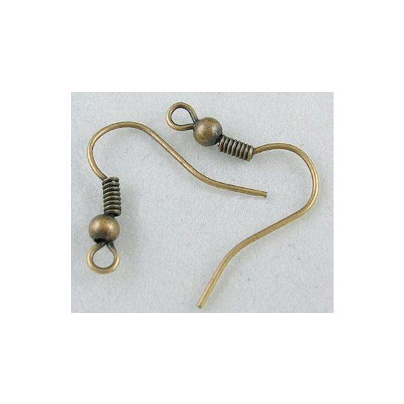 Fülbevaló alap, 18x17x0,8mm, antik réz, 100 db/csomag