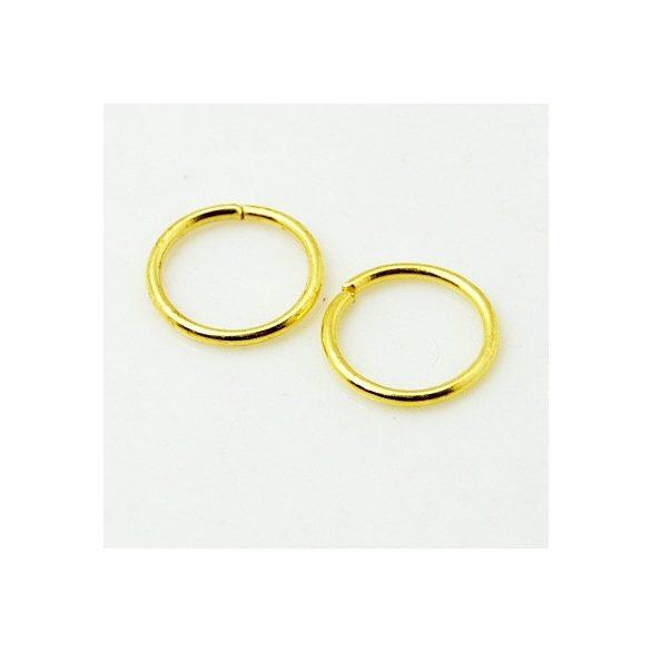 Szerelőkarika, 7mm, arany színű, 100 db/csomag