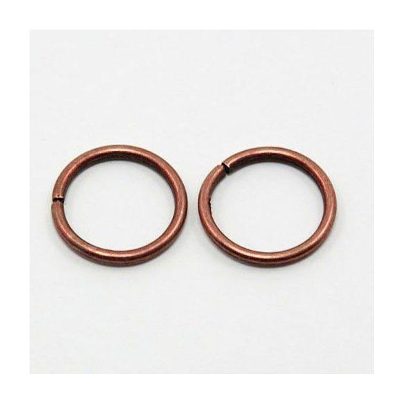 Szerelőkarika, 8mm, antik bronz színű, 100 db/csomag
