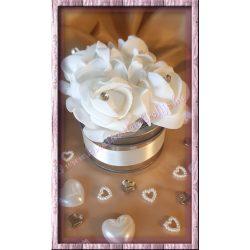Fémdoboz rózsával, 1 darab/csomag
