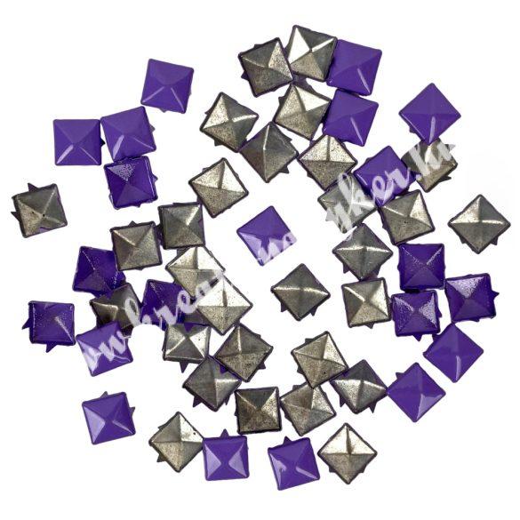 Fémszegecs, piramis, 9 mm, lila, 50 db/csomag