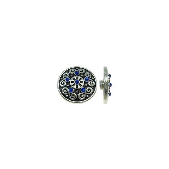 Fémpatent, 20x7,5mm, dark sapphire, db
