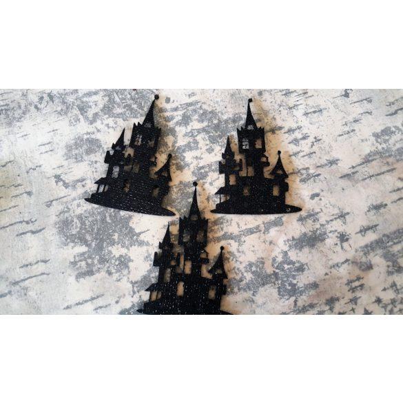 Flitteres dekorgumi kastély, 10 db/csomag