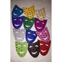 Flitteres dekorgumi maszk, vegyes csomag