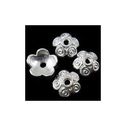 Gyöngykalap, 10x3,5mm, ezüst, 50db/csomag